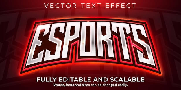 Efecto de texto de deportes, jugador editable y estilo de texto de neón