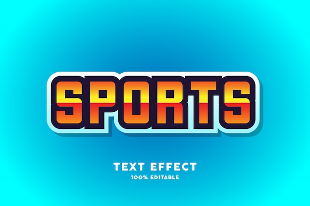 Efecto de texto deportivo azul, texto editable