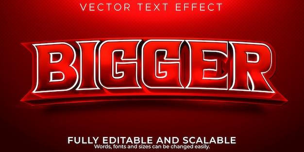 Efecto de texto deportivo, juego editable y estilo de texto deportivo