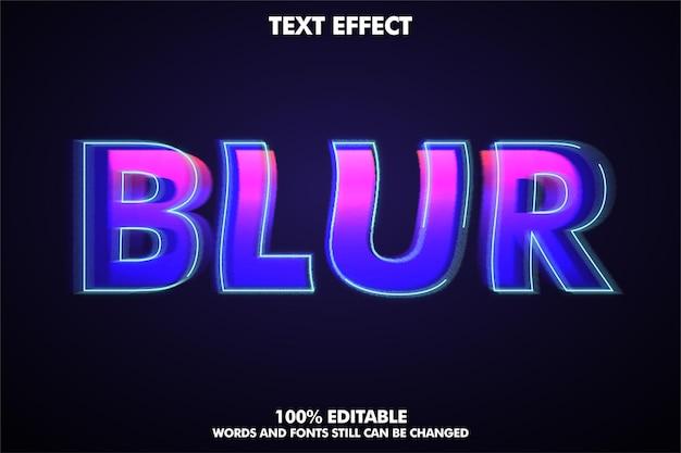 Efecto de texto de desenfoque editable de estilo de texto moderno
