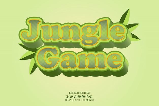 Efecto de texto detallado en 3d videojuego estilo cómico