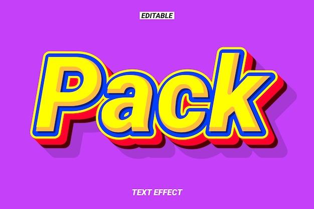 Efecto de texto de dibujos animados coloridos