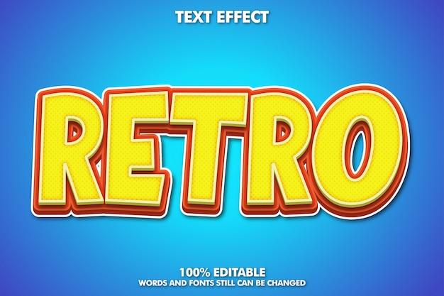 Efecto de texto de dibujos animados retro