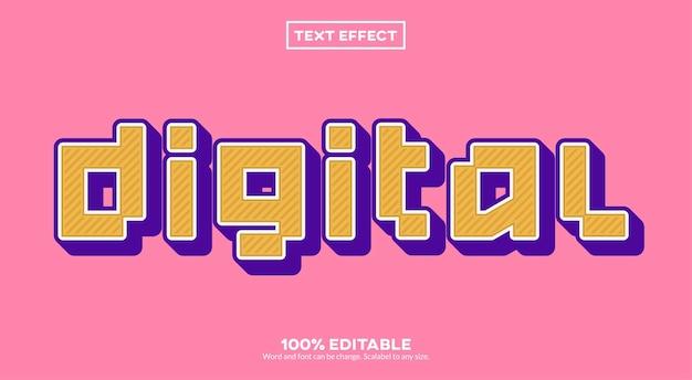 Efecto de texto digital