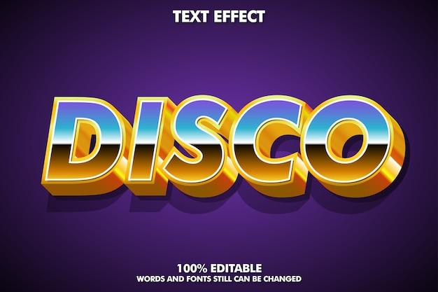 Efecto de texto disco, estilo gráfico retro moderno