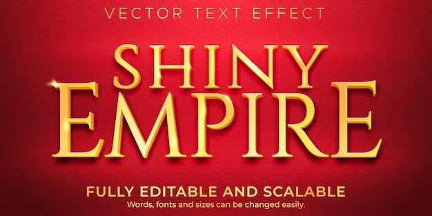 Efecto de texto dorado brillante, estilo de texto elegante y lujoso