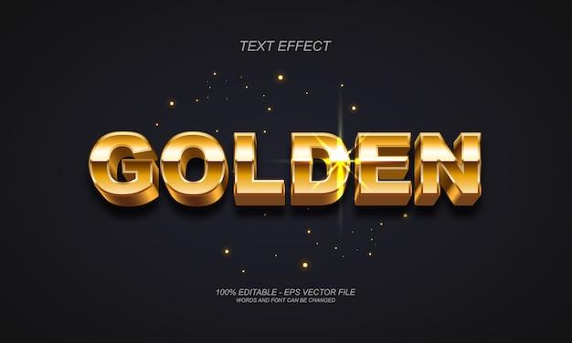 Efecto de texto dorado