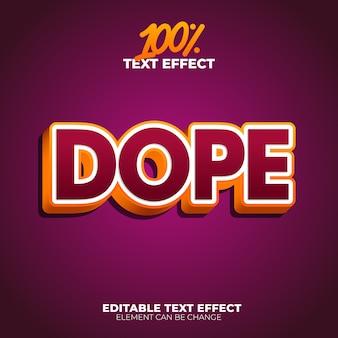 Efecto de texto de droga