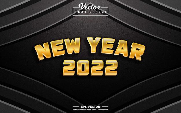 Efecto de texto editable 3d de año nuevo
