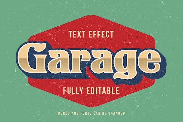 Efecto de texto editable 3d efecto de fuente editable