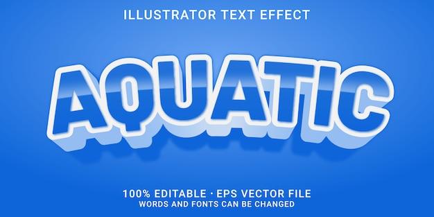 Efecto de texto editable en 3d - estilo acuático