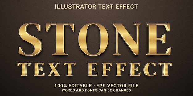 Efecto de texto editable 3d - estilo efecto de texto de piedra