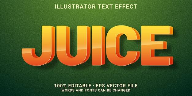 Efecto de texto editable 3d-estilo juice