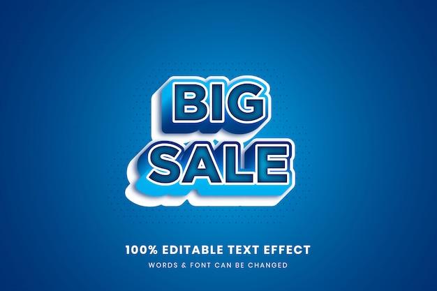 Efecto de texto editable 3d de gran venta