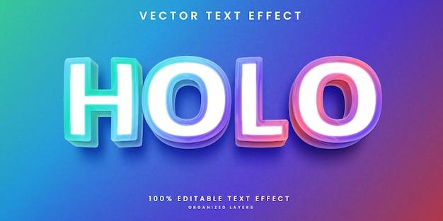 Efecto de texto editable 3d holográfico