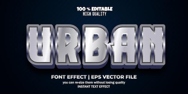 Efecto de texto editable 3d urbano