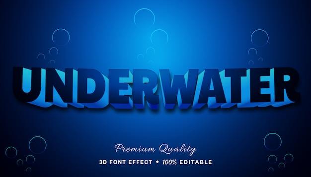 Efecto de texto editable - bajo el agua