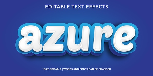 Efecto de texto editable de azure