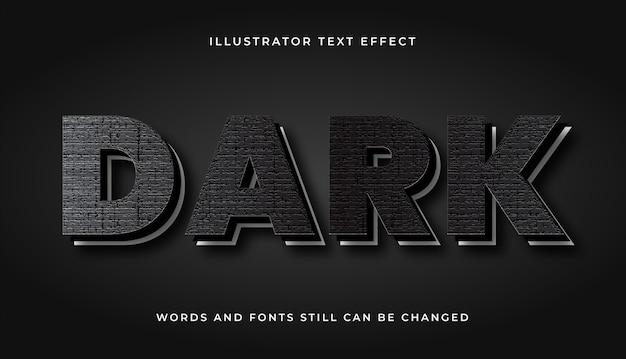 Efecto de texto editable en blanco y negro