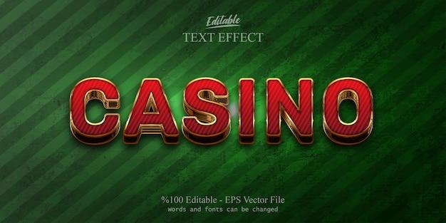 Efecto de texto editable casino