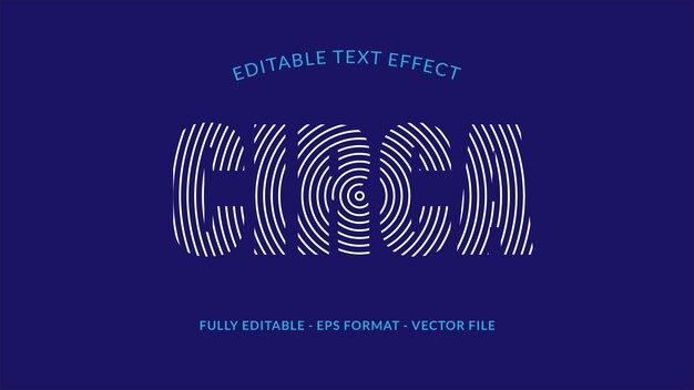 Efecto de texto editable de circa