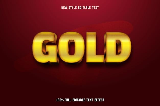 Efecto de texto editable color dorado dorado y negro