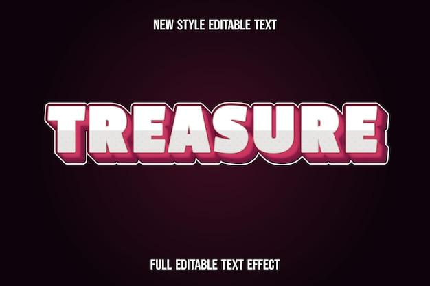 Efecto de texto editable color del tesoro degradado blanco y rojo