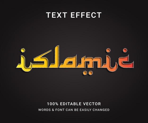 Efecto de texto editable completo islámico