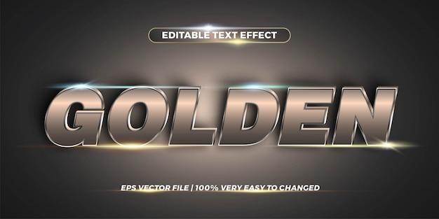 Efecto de texto editable: concepto de estilo de texto de chrome