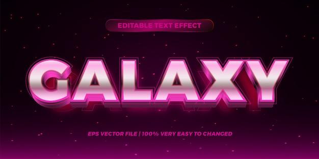 Efecto de texto editable: concepto de estilo de texto galaxy