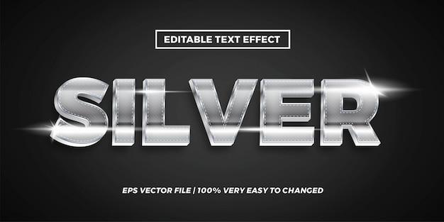 Efecto de texto editable: concepto de estilo de texto plateado
