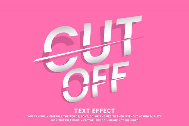 Efecto de texto editable - cortado