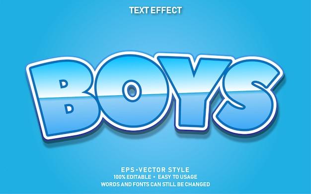 Efecto de texto editable cute boys