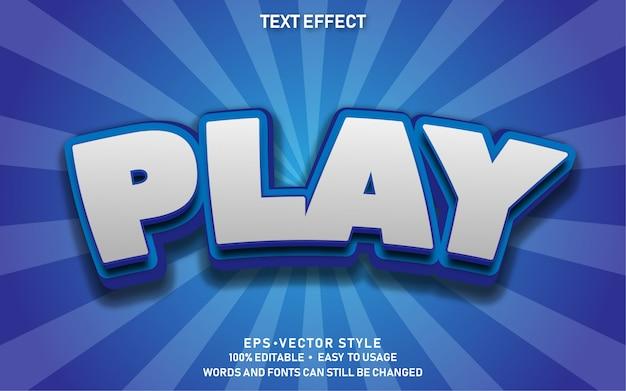 Efecto de texto editable cute comic play