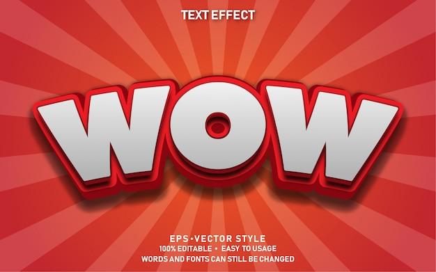 Efecto de texto editable cute comic wow