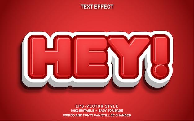 Efecto de texto editable cute hey
