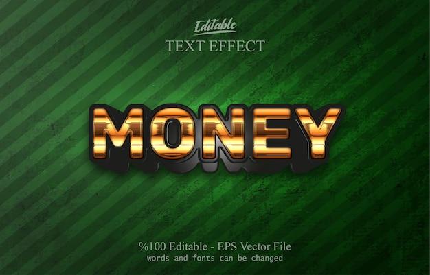 Efecto de texto editable dinero