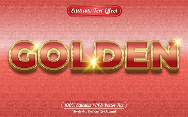 Efecto de texto editable dorado con tema dorado