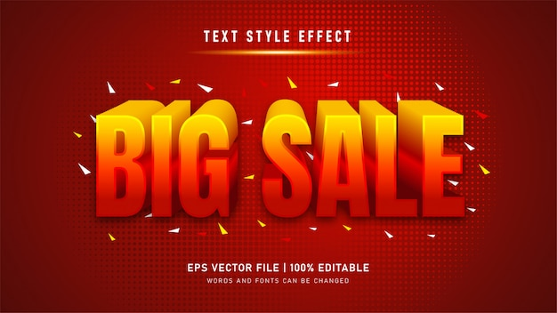 Efecto de texto editable. efecto de estilo de texto de gran venta