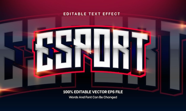 Efecto de texto editable de esport text para juegos vector premium