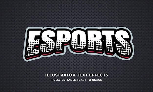 Efecto de texto editable de esports