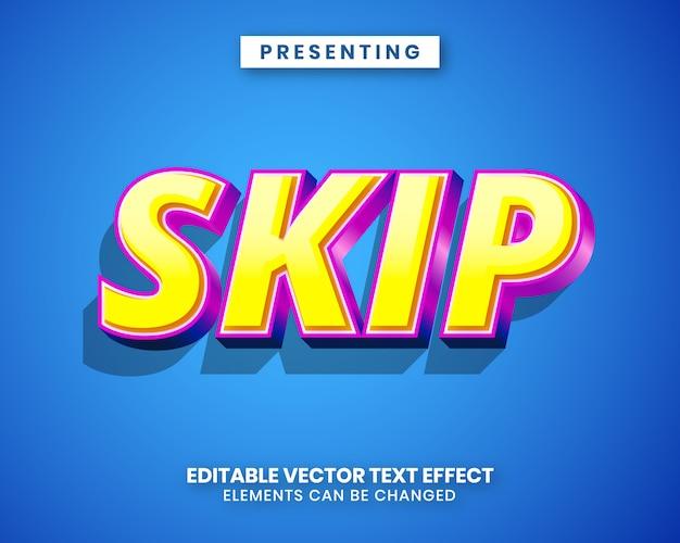 Efecto de texto editable de estilo 3d moderno con vibrante color degradado