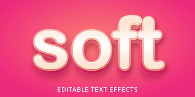 Efecto de texto editable de estilo 3d de texto suave