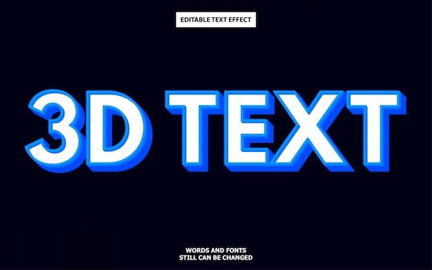 Efecto de texto editable de estilo 3d