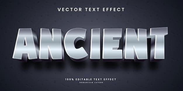 Efecto de texto editable en estilo antiguo vector premium