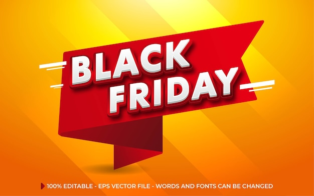 Efecto de texto editable, estilo black friday