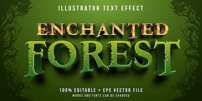 Efecto de texto editable - estilo de bosque encantado