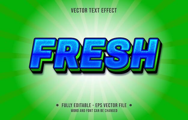 Efecto de texto editable: estilo de color degradado verde y azul fresco