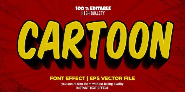 Efecto de texto editable estilo cómic de dibujos animados