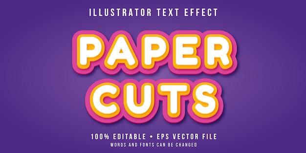 Efecto de texto editable - estilo de corte de papel